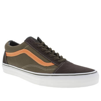 Mens Vans Brown & Orange Old Skool Trainers