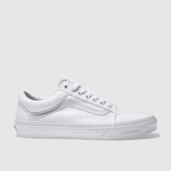Mens Vans White Old Skool Trainers