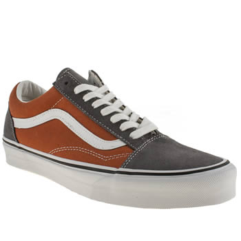 mens vans orange old skool trainers