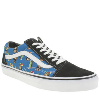 Mens Vans Black and blue Old Skool Trainers