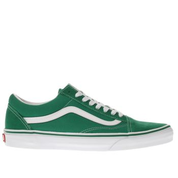 mens vans green old skool trainers