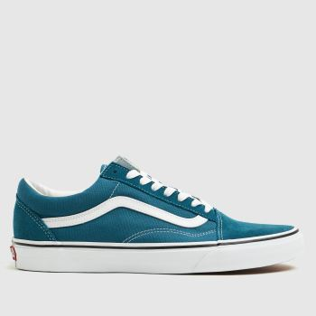 mens vans blue old skool drip trainers