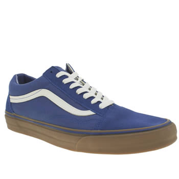 Mens Vans Blue Old Skool Trainers