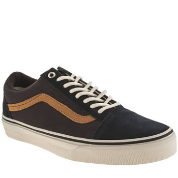 Mens Vans Grey & Navy Old Skool Trainers