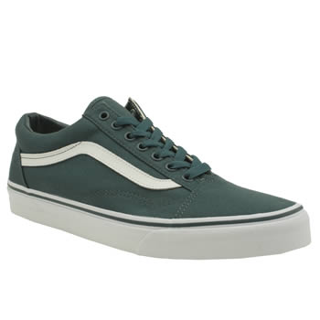 Mens Vans Turquoise Canvas Old Skool Trainers