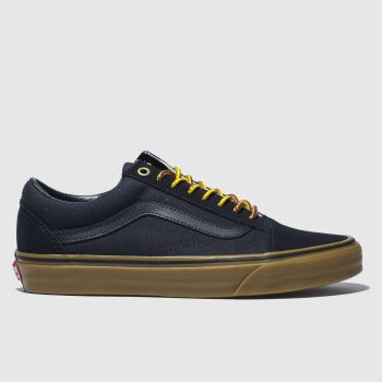 mens vans navy old skool trainers