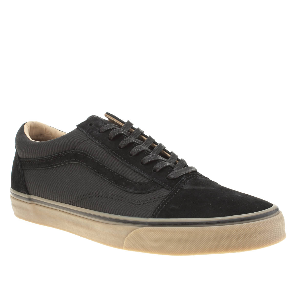 vans black mens trainers