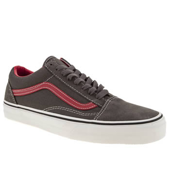 mens vans dark grey old skool trainers