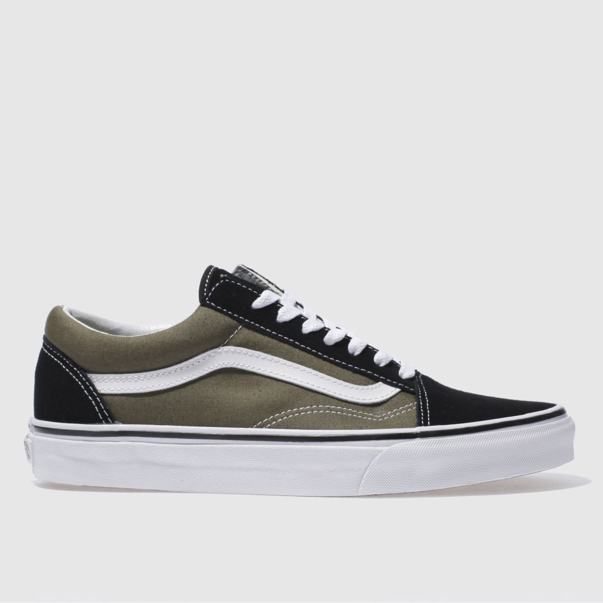 vans black & green old skool trainers