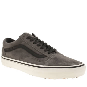 Mens Vans Grey & Black Old Skool Mte Trainers
