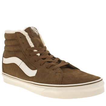 Vans Brown & White Sk8-hi Trainers