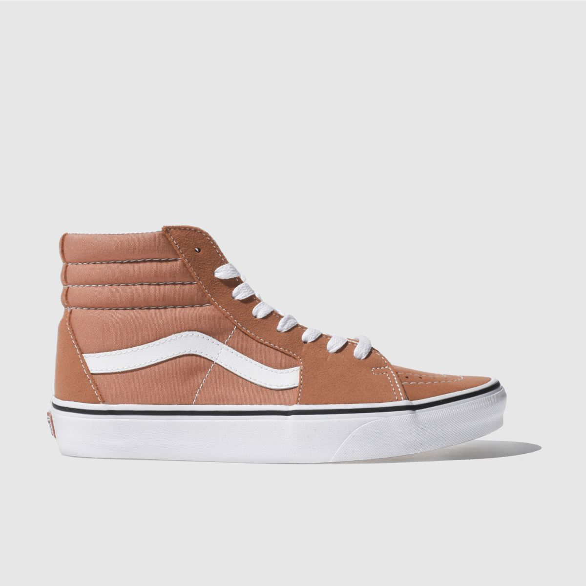 vans orange sk8-hi trainers