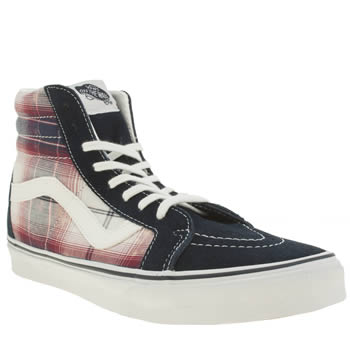 Mens Vans Navy & Red Sk8-hi Reissue Trainers