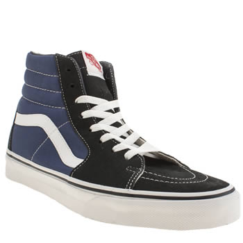 Mens Vans Navy & Black Sk8-hi Trainers