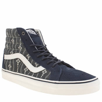 Mens Vans Navy & White Sk8-hi Reissue Indigo Trainers