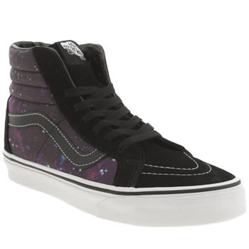 Vans Black & Purple Sk8-hi Reissue Cosmic Trainers