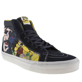 mens vans multi sk8-hi the beatles trainers