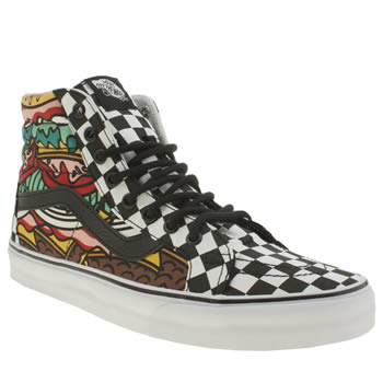 Mens Vans Multi Sk8-hi Late Night Burger Trainers