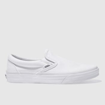 Mens Vans White Classic Slip On Trainers