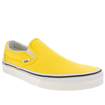 Vans Yellow Classic Slip On Trainers