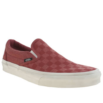 Vans Red Classic Slip On Trainers