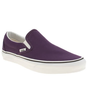 Mens Vans Purple Classic Slip On Trainers