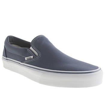 Mens Vans Navy Classic Slip-on Trainers