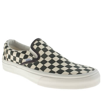 Mens Vans Navy & White Classic Slip-on Trainers