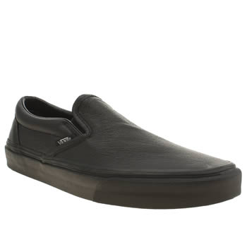 Mens Vans Black Classic Slip-on Trainers