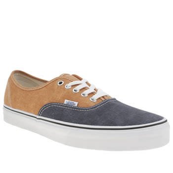 Mens Vans Navy & Orange Authentic 2 Tone Trainers