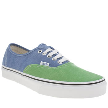 Mens Vans Blue Authentic 2 Tone Trainers