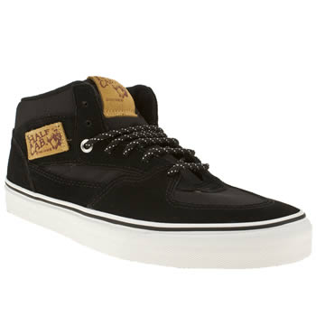 mens vans black half cab trainers
