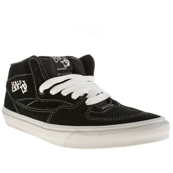 Vans Black & White Half Cab Trainers