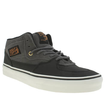 Vans Grey & Black Half Cab Trainers