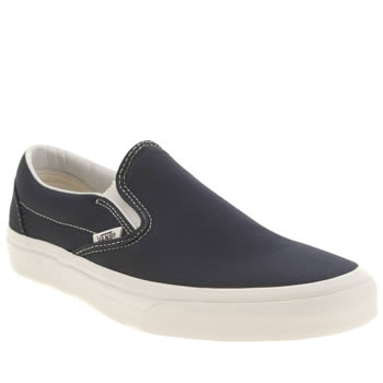 Mens Vans Navy Classic Slip-on Vintage Trainers