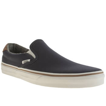 Mens Vans Navy & Orange Slip On 59 Trainers