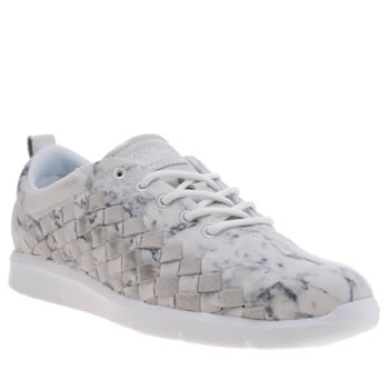 Vans White Tesella Marble Trainers