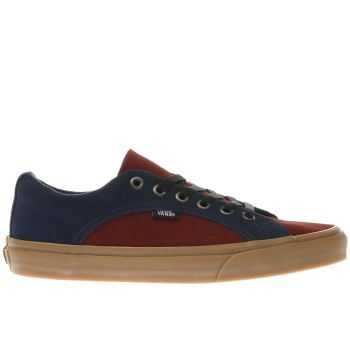 Vans Navy & Red LAMPIN Trainers