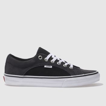 mens vans grey & black lampin trainers