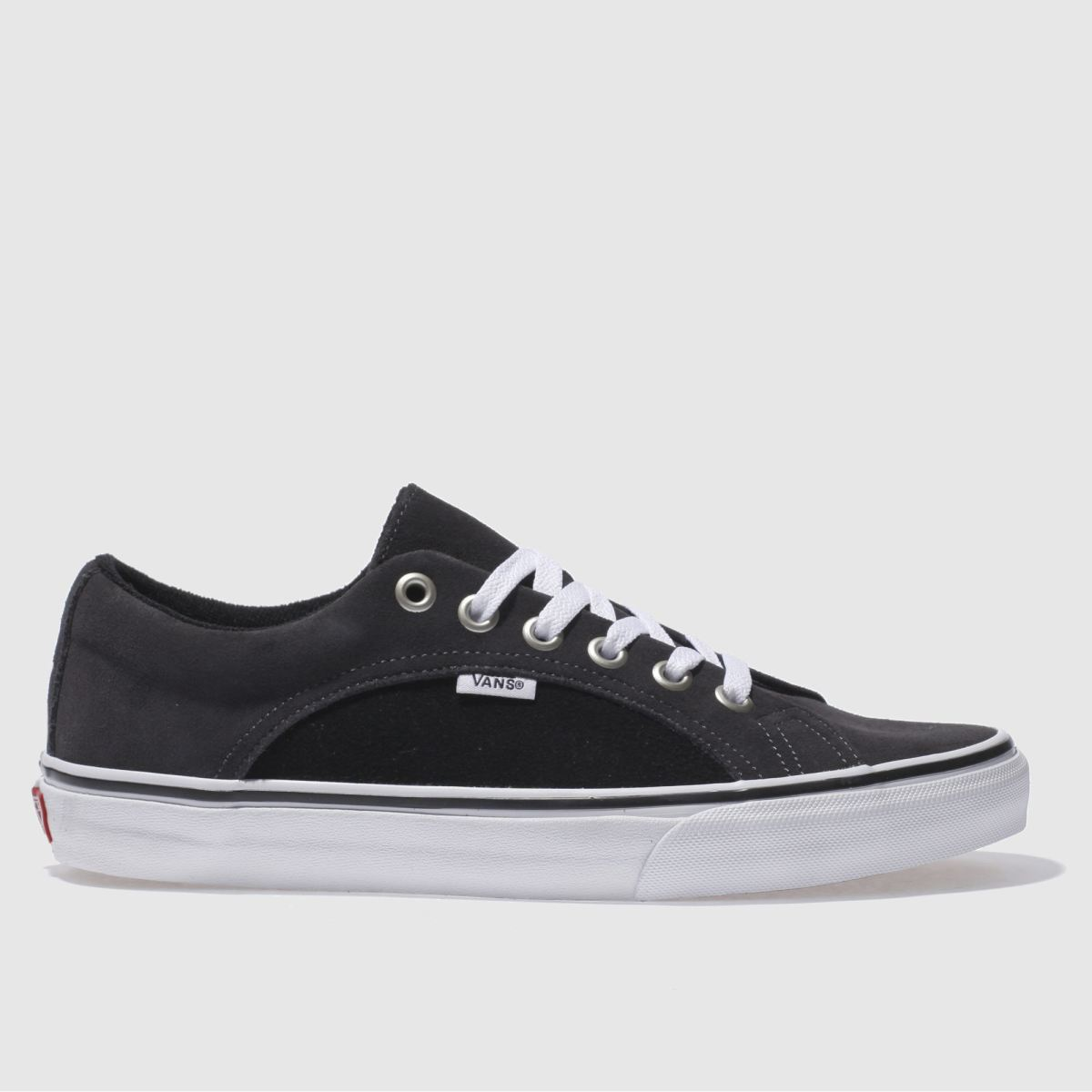 vans grey & black lampin trainers