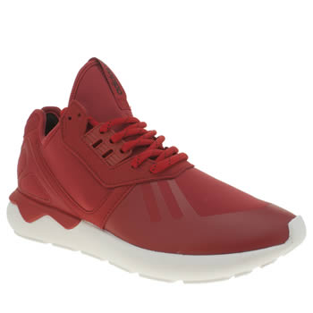 Mens Adidas Red Tubular Runner Trainers