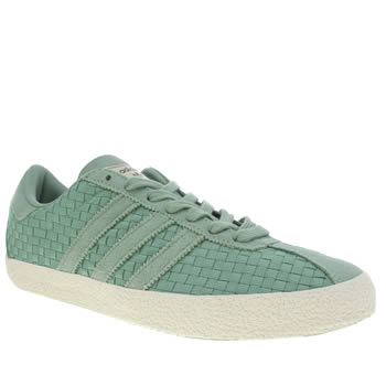 Mens Adidas Turquoise Gazelle 70s Trainers
