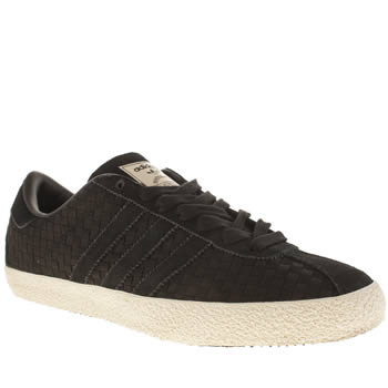 Mens Adidas Black Gazelle 70s Trainers