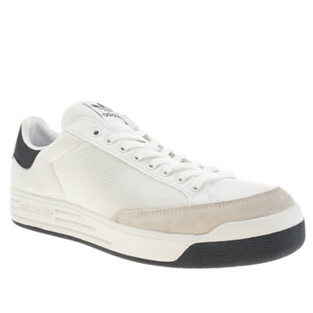 mens adidas white & navy rod laver trainers