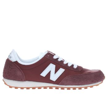 New Balance Burgundy 410 Mens Trainers