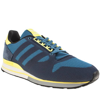 Mens Adidas Navy Zx 500 Weave Trainers