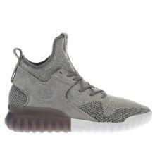 Adidas Light Grey Tubular X Primeknit Mens Trainers