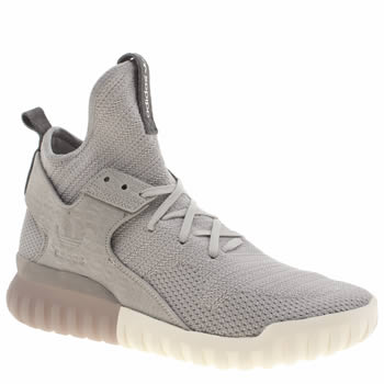 Mens Adidas Grey Tubular X Primeknit Trainers