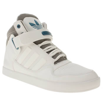 mens adidas white & grey ar 2-0 trainers