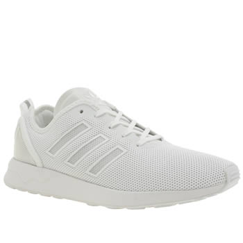 Mens Adidas White Adi Zx Flux Adv Trainers
